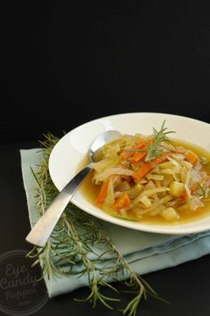 Country braised cabbage soup (vegan option, gluten-free, paleo) Comforting dish!
