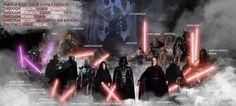 Sith Code and the greatest Sith Lords: Sith Emperor (Vitiate), Lord Kaan, Adas, Darth Traya, Darth Scion, Darth Nihilus, Darth Malgus, Darth Plagueis, Darth Sidious, Darth Vader, Exar Kun, Darth Tyrannus, Darth Maul, Darth Revan & Malak, Darth Krayt, Andeddu, Darth Bane