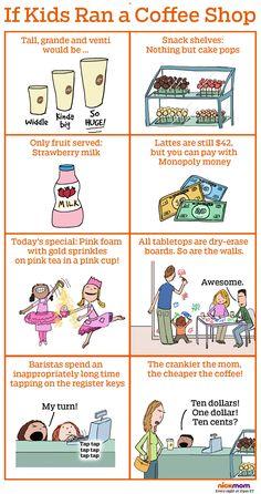 If Kids Ran a Coffee Shop | More LOLs & Funny Stuff for Moms | NickMom