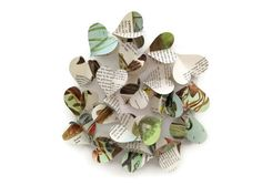 Fish  Mini Paper Heart Garland Decoration   by MontclairMade