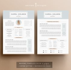 https://creativemarket.com/The.Resume.Boutique/574636-Resume-Template-4page-Milky-Way