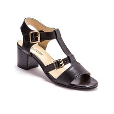 Leather Sandals with Adjustable Buckle, Wide Fit for Comfort BALSAMIK