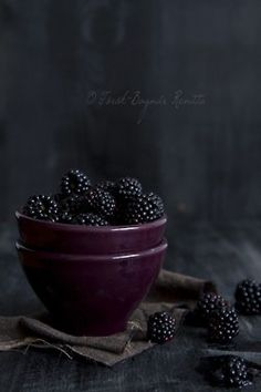 Food........made simple. Blackberries....makes cobbler.....man devours cobbler.