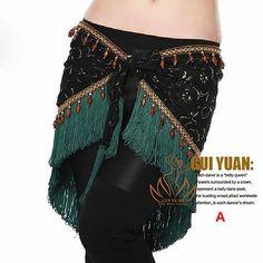 Newest Tribal Belly Dance Costume Dancewear Dress Hip Scarf Belt Wrap