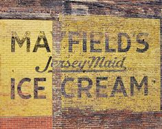 fine art photo of mayfields ice cream jerseymaid old building image vintage