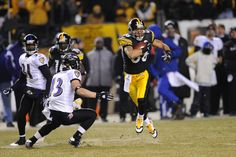 Ravens vs Steelers, always a classic ~ Hines Ward running with a reception at the AFC Championship in 2009
