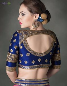 5 Amazing Saree Blouse Back Designs - Brijraj Fashion