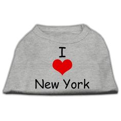 Mirage cat Products 20-Inch I Love New York Screen Print Shirts for cats, 3X-Large, Grey * You can find more details here : Cat sweater