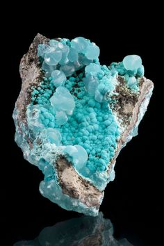 Smithsonite With Aurichalcite, Kelly Mine, Magdalena, New Mexico, USA, Small Cabinet, 9.0 x 7.0 x 4.0 cm, A very rare…