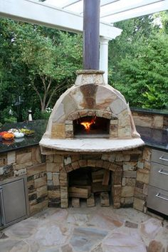 patio fireplace and pizza oven - Next big yard project ...