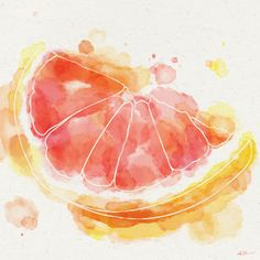 Watercolors Foods by Ashley Kuehl Stone, via Behance