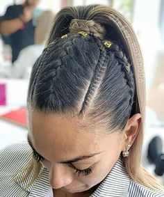 2019 braiding hair trends Which braid do you like the most? Braided Ponytail Hairstyles, Baddie Hairstyles, Pretty Hairstyles, Girl Hairstyles, Curly Hair Styles, Natural Hair Styles, Jackie Aina, Love Hair, Braid Styles