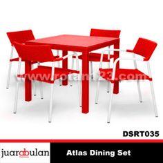 Atlas Dining Set Meja Makan Rotan Sintetis DSRT035