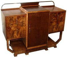 Art Nouveau Furniture, Furniture Design, Walnut Sideboard, Bold Colors, Decorative Accessories, Beautiful Things, Nest, Jazz, Jewelery