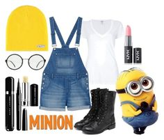 Minion by rhi-elizabeth on Polyvore featuring polyvore, fashion, style, Splendid, Monki, yeswalker, Neff, NYX, Marc and clothing