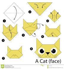 Resultado de imagen para como hacer un gato de origami paso a paso