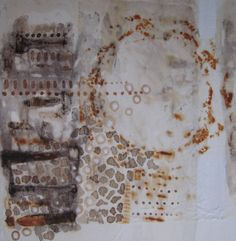 Cathy Missaghi | unknown title | encaustic mixed media on paper /sm