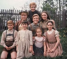 The Von Trapp children and Maria -- Sound of Music. Just finished watching