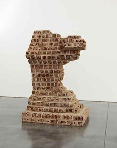 Damián Ortega Marcel Duchamp, Damian Ortega, Brick Face, Art Criticism, Cultural Artifact, Concrete Sculpture, Pop Art Movement, School Of Visual Arts, Postcard Printing