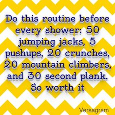 Abs routine, everyday before you shower...maybe i should really try one of these.