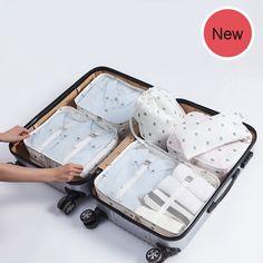 2018 New Fashion Women Packing Cube 6 pcs High Quality Mesh Waterproof Travel Bag luggage organizer B60  Price: 38.00 & FREE Shipping  #fashion|#sport|#tech|#lifestyle New Fashion, Fashion Women, Shipping Packaging, Packing Cubes, Natural Disasters, Luggage Bags, Travel Bag, Mesh, Organization