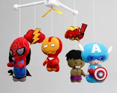 Baby Mobile Baby Crib Mobile Super Hero Mobile by LesPetitesshop