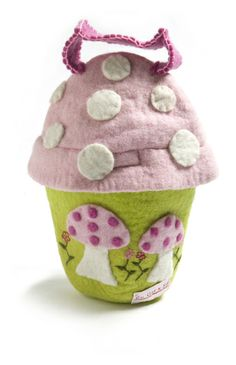 *Osterkörbchen Pilz in Candyfarben* von CinnamonSwirl  auf DaWanda.com