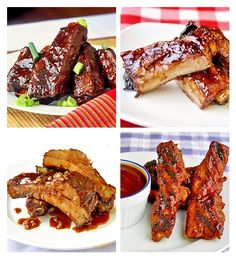 """Superbowl Ribs! You know you've got to have some great ribs on game day and we've got you covered; Maple Chipotle Barbeque Braised Ribs, Black Bean and Ginger Glazed Ribs, Bourbon Barbeque Ribs plus over 80 other delicious Superbowl food ideas including a recipe that uses pork tenderloin to create a quick """"boneless"""" ribs! Great chicken wing recipes too and so much more. All you'll need for a great game day in one place!"""