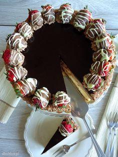 chocolate cheesecake, cheesecake, strawberry cheesecake, chocolate cheesecake with strawberry, sernik przpeis, sernik czekoladowy, sernik z czekoladą, sernik z truskawkami