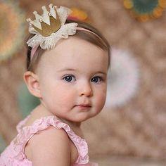 crown hairstyles - Little Princess Crown Headband 1st Birthday Party For Girls, Baby Birthday, Princess Hairstyles, Crown Hairstyles, Cute Princess, Little Princess, Princess Tiara, Disney Princess, Elastic Headbands