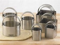 8-pc. Stainless Steel Round and Square Biscuit Cutters by CHEFS at Cooking.com