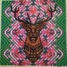 Deer hama perler bead art by pagey163