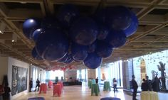 Giant balloon cloud sculpture on roof of the Art Gallery of NSW