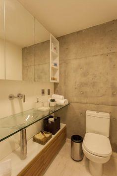 MaxHaus Citrino - Galeria de Imagens   Galeria da Arquitetura Comfort Room, Industrial Apartment, Home Comforts, Bathroom Organization, Flat Design, Aluminium, Sweet Home, New Homes, Shower