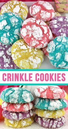 Springtime Crinkle Cookies - light and fluffy on the inside - sweet and crunchy . Springtime Crinkle Cookies - light and fluffy on the inside - sweet and crunchy on the outside with a hint of lemon Easter Cookie Recipes, Easter Cookies, Easter Treats, Easter Food, Easter Baking Ideas, Easter Meal Ideas, Easter Cake Easy, Easy Easter Desserts, Easter Stuff