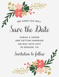Garden Party Save-the-Date Cards
