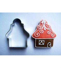 Házikó karácsonyi sütemény kiszúró forma, sütikiszúró. Mézeskalács formák - több mint 200 féle raktárról - a gasztroajándék webáruházban, gyere nézd meg Te is! Cookie Cutters, Tea, Teas