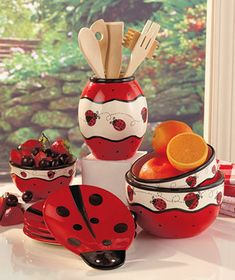 I like the lady bugs, maybe I will change apples to lady bugs...its adorable and plus it's still red