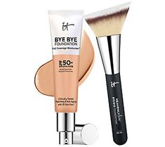 IT Cosmetics Bye Bye Foundation Moisturizer with Brush Med -- See this great product. (This is an affiliate link) Bye Bye, Laura Mercier Tinted Moisturizer, Bb Cream, Waterproof Mascara, Eye Makeup Tips, Face Makeup, Permanent Makeup, Makeup Remover, How To Feel Beautiful