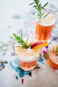 Rosemary and Peach Summer Fizz