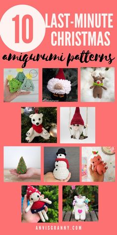 Explore the 10 cutest Christmas amigurumi free crochet patterns and crochet your favorite Christmas amigurumi ornaments, Christmas crochet dolls, Christmas crochet amigurumi animals. All the patterns are for beginners with detailed step by step instructions and perfect for holiday makes and Christmas gift-giving. #freecrochetpattern #christmascrochet #amigurumidoll #anvisgranny