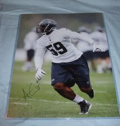 Aaron Curry Seattle Seahawks Autographs