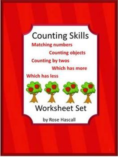 Math: Strong counting skills will help students progress to a strong math foundation when they start school. This in turn benefits them as they advance through the grades. This packet, Counting Skills Worksheets, consists of 19 pages and provides various worksheets to help students develop these skills. Some have the student drawing lines to the right answer, circling the right answer on others and cut and paste on some.