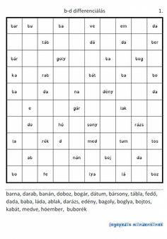 A szótaggyűjtő album - Logopédia mindenkinek Dysgraphia, School Hacks, School Tips, Sheet Music, Therapy, Language, Teacher, Education, Speech Language Therapy