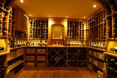 After all the time, energy, and resources that you've put into accumulating your wine collection, you better make sure that you've got a properly prepared place to store and protect it. To learn more, call us today Glass Wine Cellar, Wine Cellar Design, Wine Cellars, Wine Glass, Wood Wine Racks, Wine Collection, Your Space, Paradise, Construction