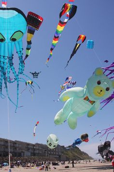 Kite flying Lincoln City, Oregon