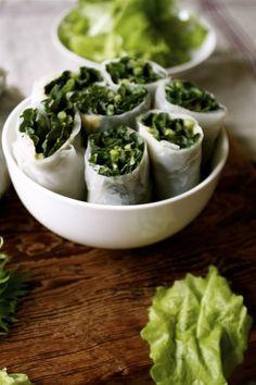 Kale rice wraps