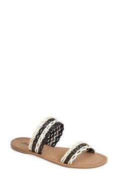 Lucky Brand 'Alddon' Woven Two Strap Sandal (Women) available at #Nordstrom