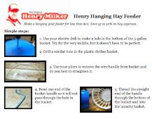 Henry Hanging Hay Feeder Plans (download Immediately)