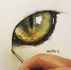 60 Trendy Ideas For Eye Drawing Cat Watercolor Painting Watercolor Cat, Watercolor Animals, Watercolor Paintings, Simple Watercolor, Tattoo Watercolor, Animal Paintings, Animal Drawings, Cat Drawing, Dragon Eye Drawing